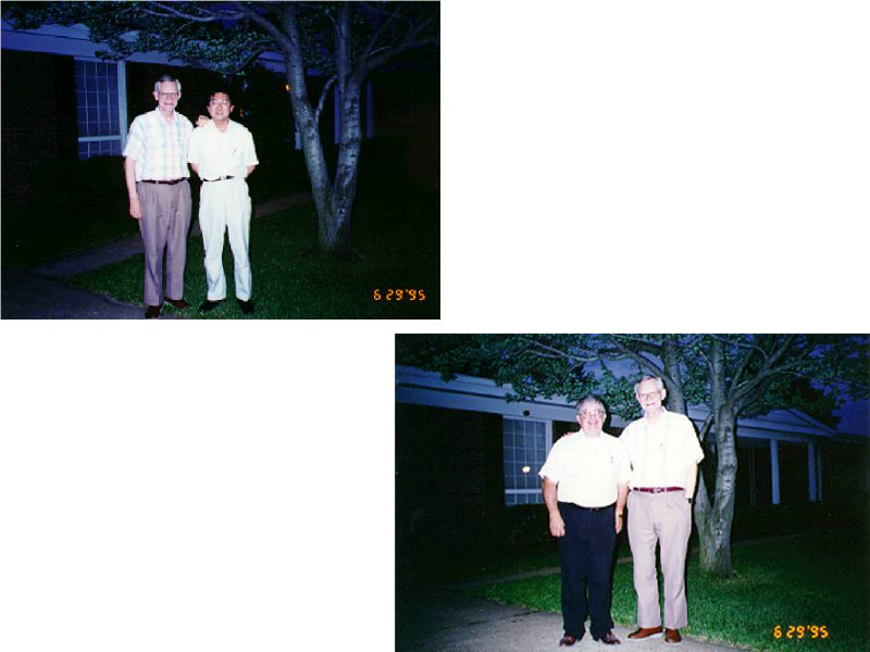 With Mr. Ralph Vogelgesang at his home. 1995