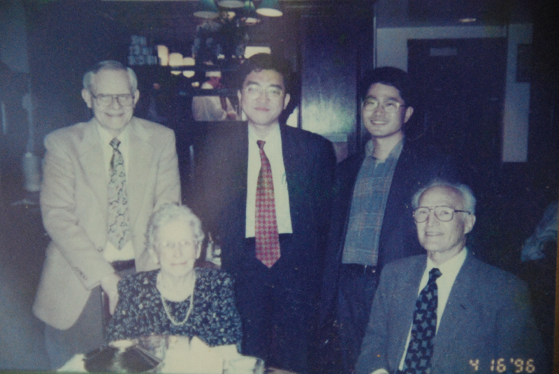 With Dr. Darrel Harris, his wife and Mr. S.W.Cho 1996